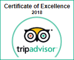 TripAdvisor's Certificate of Excellence 2018